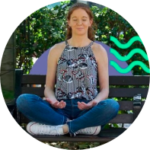 Young woman looking peaceful in lotus position